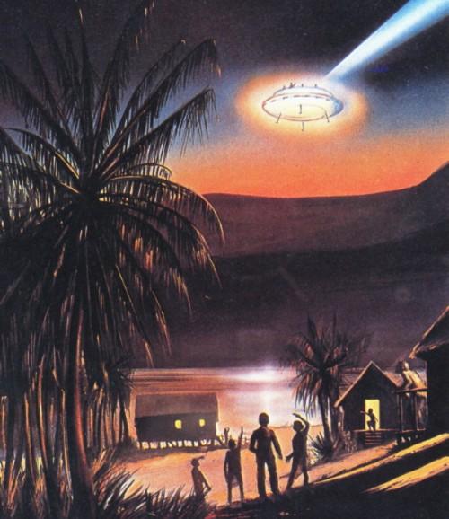 Budai József látogatása ufóval Új-Guineába
